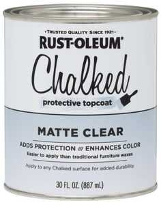 Rust-Oleum 287722 Chalked Protective Topcoat Matte Clear