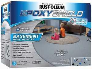 Rust-Oleum 203007 Epoxyshield Gray Basement Floor Coating Kit