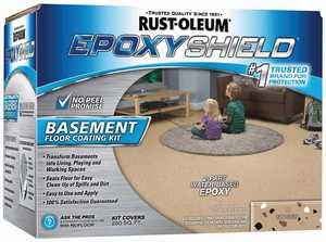 Rust-Oleum 203008 Epoxyshield Tan Basement Floor Coating Kit