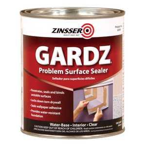 Zinsser 2304 Gardz Interior Problem Surface Sealer Clear Quart