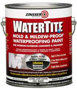 Zinsser 05001 Watertite Mold And Mildew-Proof Waterproofing Paint Gallon