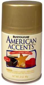 Rust-Oleum 209674 American Accents Craft Enamel Spray Paint Gold