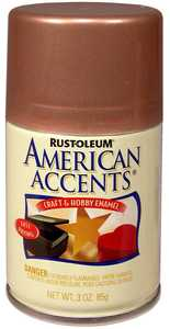 Rust-Oleum 209675 American Accents Craft Enamel Spray Paint Burnished Copper
