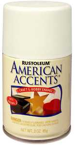 Rust-Oleum 209689 American Accents Craft Enamel Spray Paint Clear