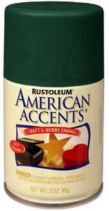 Rust-Oleum 209691 American Accents Craft Enamel Spray Paint Hunt Club Green