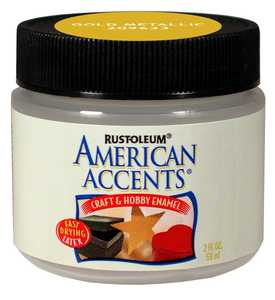 Rust-Oleum 209633 American Accents Craft Enamel Paint Gold Metallic