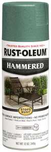 Rust-Oleum 7219830 Stops Rust Interior/Exterior Hammered Spray Paint Verde Green