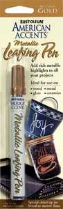 Rust-Oleum 215190 American Accents Metallic Leafing Pen Gold