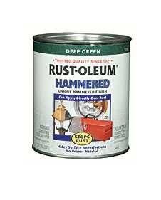 Rust-Oleum 7211502 Stops Rust Hammered Deep Green Qt