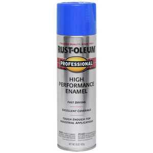 Rust-Oleum 7524838 Professional Interior/Exterior Enamel Spray Paint Safety Blue