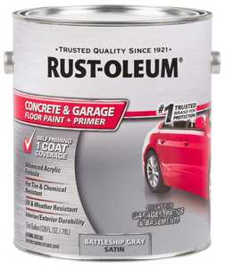 Rust-Oleum 225380 Epoxyshield Concrete Floor Paint Battleship Gray Gallon