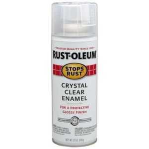 Rust-Oleum 7701830 Stops Rust Interior/Exterior Enamel Spray Paint Crystal Clear Gloss Finish 12-Ounce Can