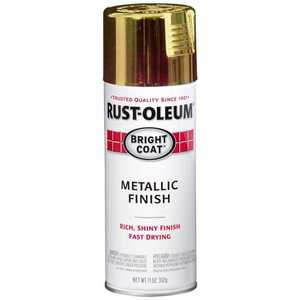 Rust-Oleum 7710830 Stops Rust Interior Metallic Spray Paint Gold