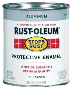 Rust-Oleum 7715502 Stops Rust Paint Aluminum Metallic Qt