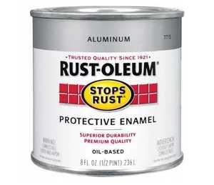 Rust-Oleum 7715730 Stops Rust Paint Aluminum Metallic 1/2 Pt