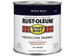 Rust-Oleum 7727730 Stops Rust Paint Royal Blue 1/2 Pt