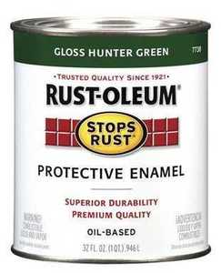 Rust-Oleum 7738502 Stops Rust Paint Hunter Green Qt