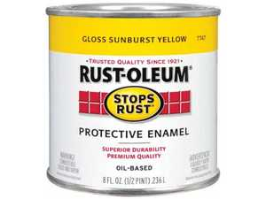 Rust-Oleum 7747730 Stops Rust Paint Sunburst Yellow 1/2 Pt