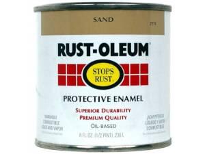 Rust-Oleum 7771730 Stops Rust Paint Sand 1/2 Pt