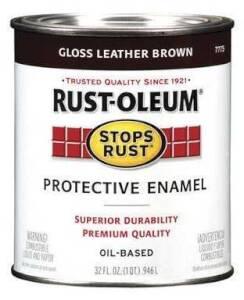 Rust-Oleum 7775502 Stops Rust Paint Leather Brown Qt