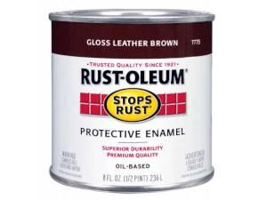 Rust-Oleum 7775730 Stops Rust Paint Leather Brown 1/2 Pt
