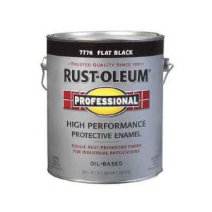 Rust-Oleum 7776402 Stops Rust Paint Flat Black Gal