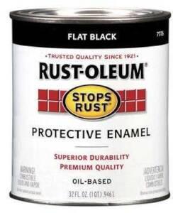 Rust-Oleum 7776502 Stops Rust Paint Flat Black Qt