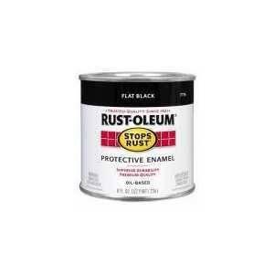 Rust-Oleum 7776730 Stops Rust Paint Flat Black 1/2 Pt