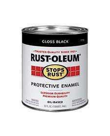 Rust-Oleum 7779504 Stops Rust Gloss Black Qt