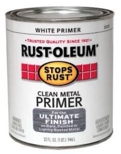 Rust-Oleum 7780502 Stops Rust White Clean Metal Primer Qt