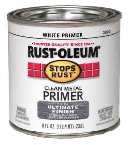 Rust-Oleum 7780730 Stops Rust White Clean Metal Primer 1/2 Pt