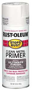 Rust-Oleum 7780830 Stops Rust White Clean Metal Primer 12 oz Spray