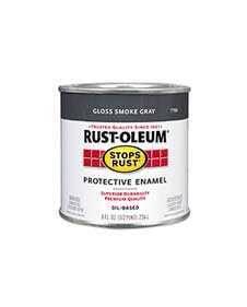 Rust-Oleum 7786730 Stops Rust Smoke Gray 1/2 Pt