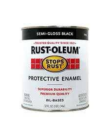 Rust-Oleum 7798502 Stops Rust Semi Gloss Black Qt