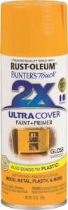 Rust-Oleum 249862 Painter's Touch Spray Paint And Primer Marigold