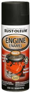 Rust-Oleum 248936 Automotive Engine Enamel Spray Paint Black