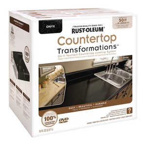 Rust-Oleum 258284 Countertop Transformations Refinishing Kit Large Onyx