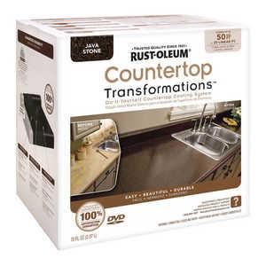 Rust-Oleum 258283 Countertop Transformations Refinishing Kit Large Java Stone