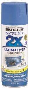 Rust-Oleum 249062 Painter's Touch Spray Paint And Primer Wildflower Blue