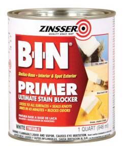 Zinsser 904 B-I-N Interior/Exterior Shellac-Base Primer White Quart