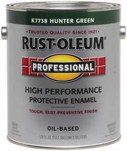 Rust-Oleum K7738402 High Performance Enamel Oil Base 400voc Gallon Hunter Green