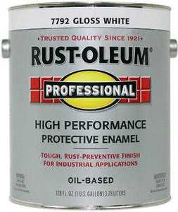 Rust-Oleum K7792402 High Performance Enamel Oil Base 400voc Gallon White