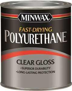 Minwax 27426230002 Interior Fast-Drying Polyurethane Clear Gloss Finish 1/2-Pint