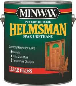 Minwax 27426132009 Helmsman Interior/Exterior Spar Urethane Clear High-Gloss Finish Gallon