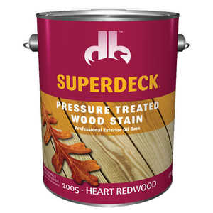 Duckback 4075520054 Superdeck Pressure Treated Wood Stain Professional Exterior Oil Base In Heart Redwood 1 Gal