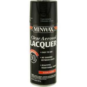 Minwax 2742615200 Clear Brush Lacquer Gloss Aerosol