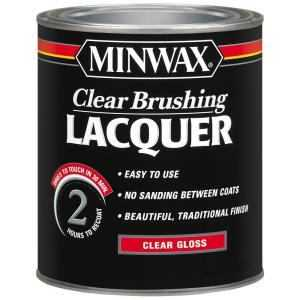 Minwax 2742615500 Clear Brush Lacquer Gloss Qt