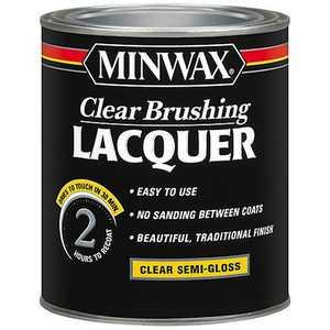 Minwax 2742615505 Clear Brush Lacquer Semi Gloss Qt