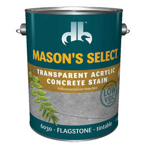 Duckback 4075560304 Mason's Select Transparent Acrylic Concrete Stain In Flagstone 1 Gal