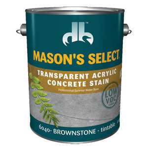 Duckback 4075560404 Mason's Select Transparent Acrylic Concrete Stain In Brownstone 1 Gal